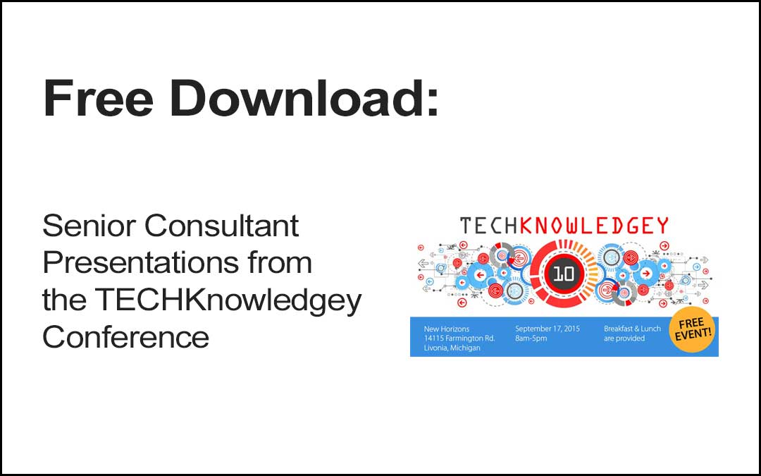 Download TECHKnowledgey Presentations
