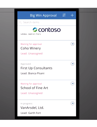 SharePoint Approval list in a mobile experience via PowerApps