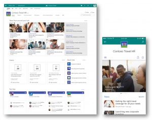 SharePoint hub sites - organization tool in Office 365