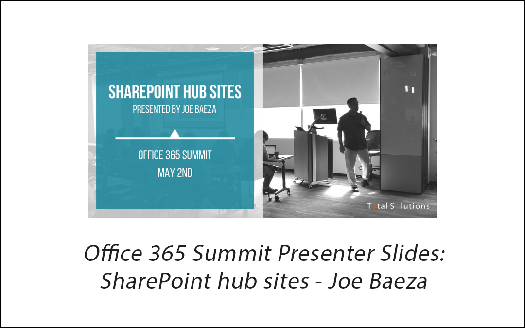SharePoint Hub Sites Presentation