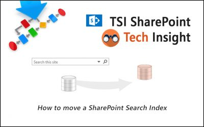 How to move a SharePoint Search Index