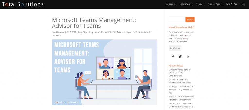 Microsoft Teams Reference